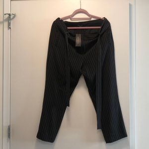 Rachel Zoe High Waisted Pinstriped Pants